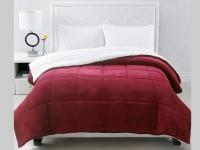 Acolchado Corderito Comforter Twin Bordeaux