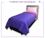 Acolchado Comforter Twin Rosa Purpura