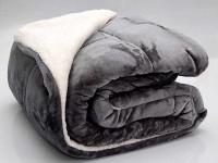 Acolchado Corderito Comforter Luxury Bed Twin Gris