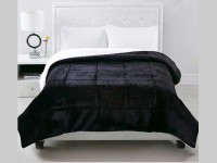 Acolchado Corderito Comforter Luxury Bed Twin Negro