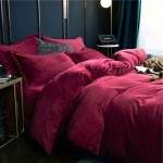 Frazada Luxury Bed Flannel Queen Bordeaux