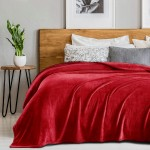 Frazada Luxury Bed Flannel Twin Bordeaux