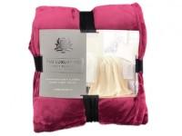 Frazada Luxury Sherpa & Flannel Twin Bordeaux
