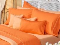 Sábanas Danubio Colors 200 hilos Queen Orange