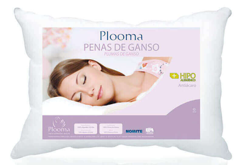 Almohada  Plooma Duvet 100% 0,70 x 0,50 x 8